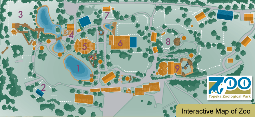 interactive map of the Topeka Zoo