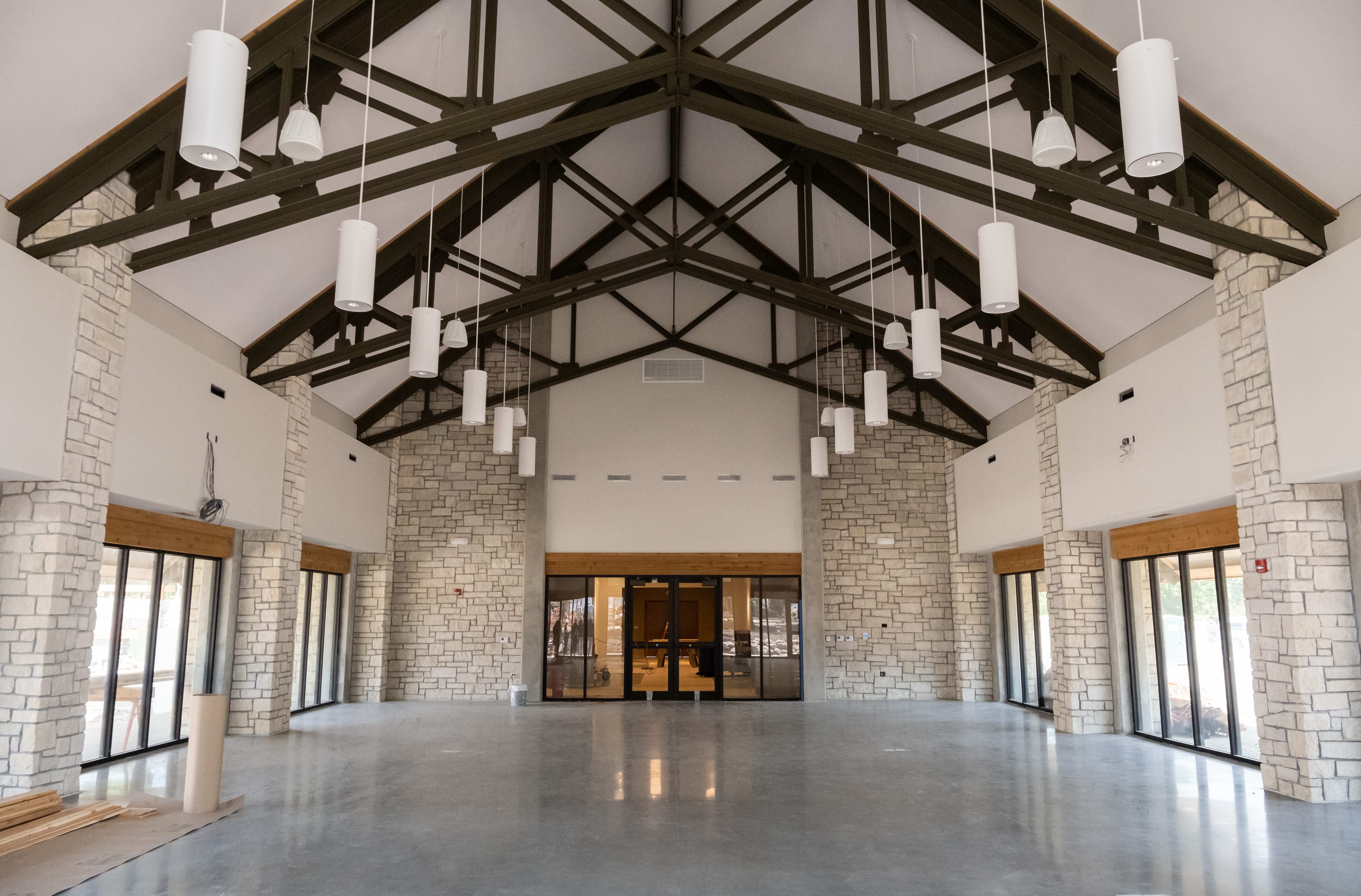 interior of brand new venue and rental space at Topeka Zoo