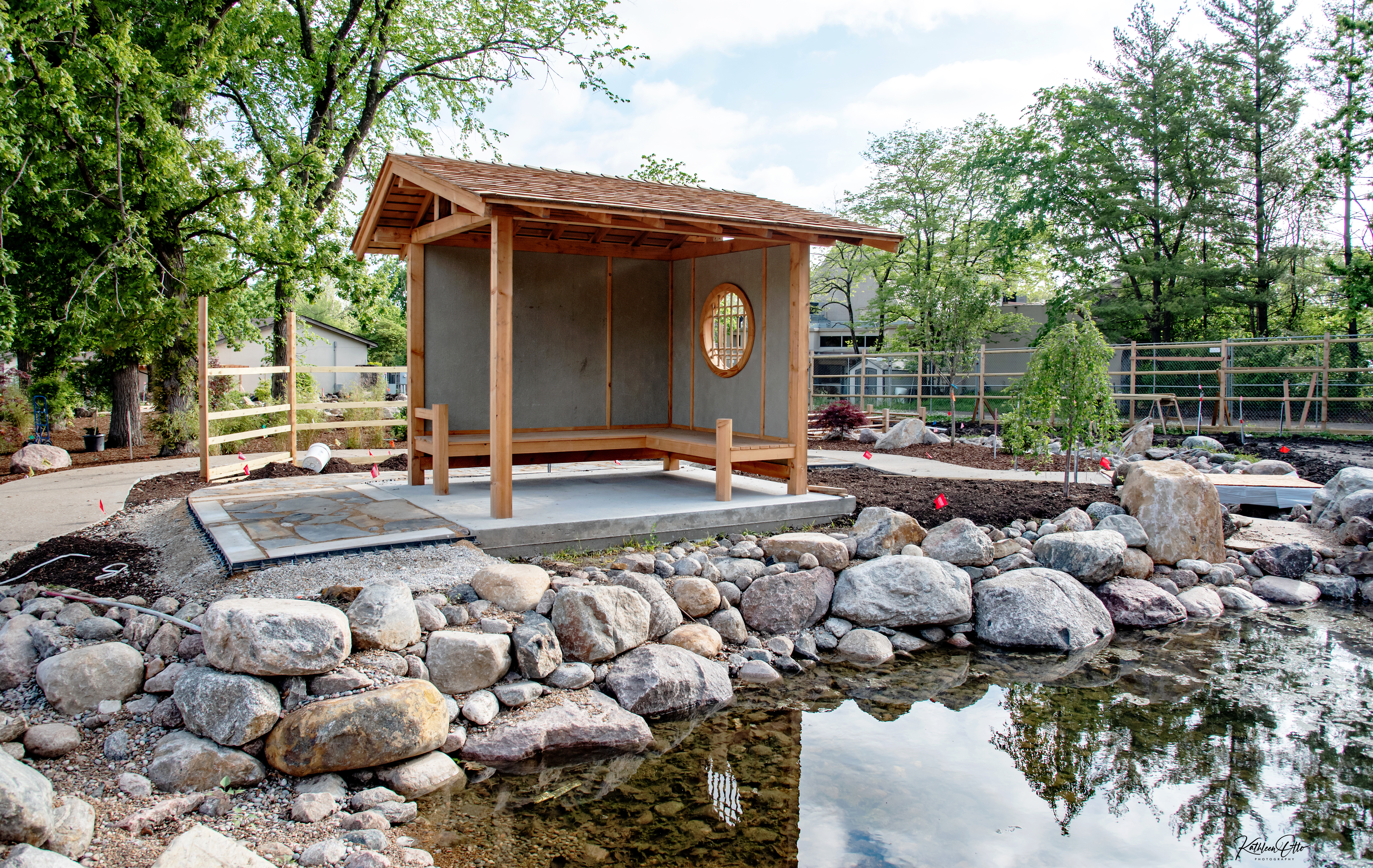 meditation space in Japanese Garden at Topeka Zoo