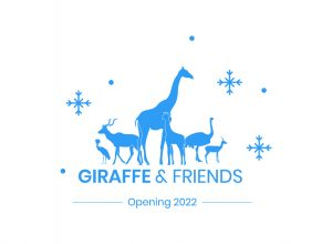 Giraffe and Friends logo for the Holiday Brick Campaign