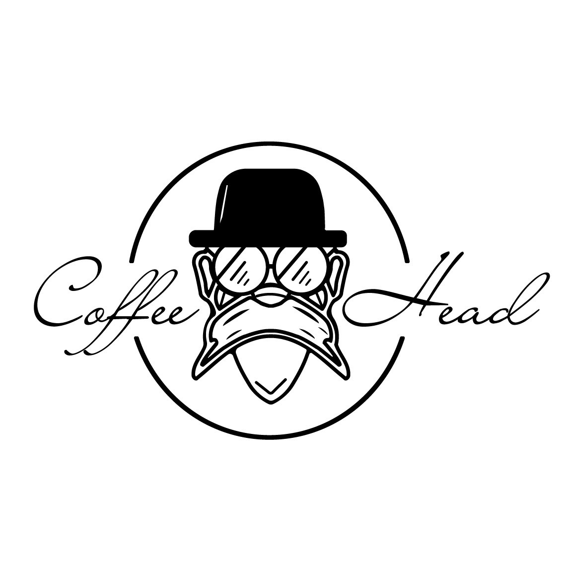 Coffee head logo
